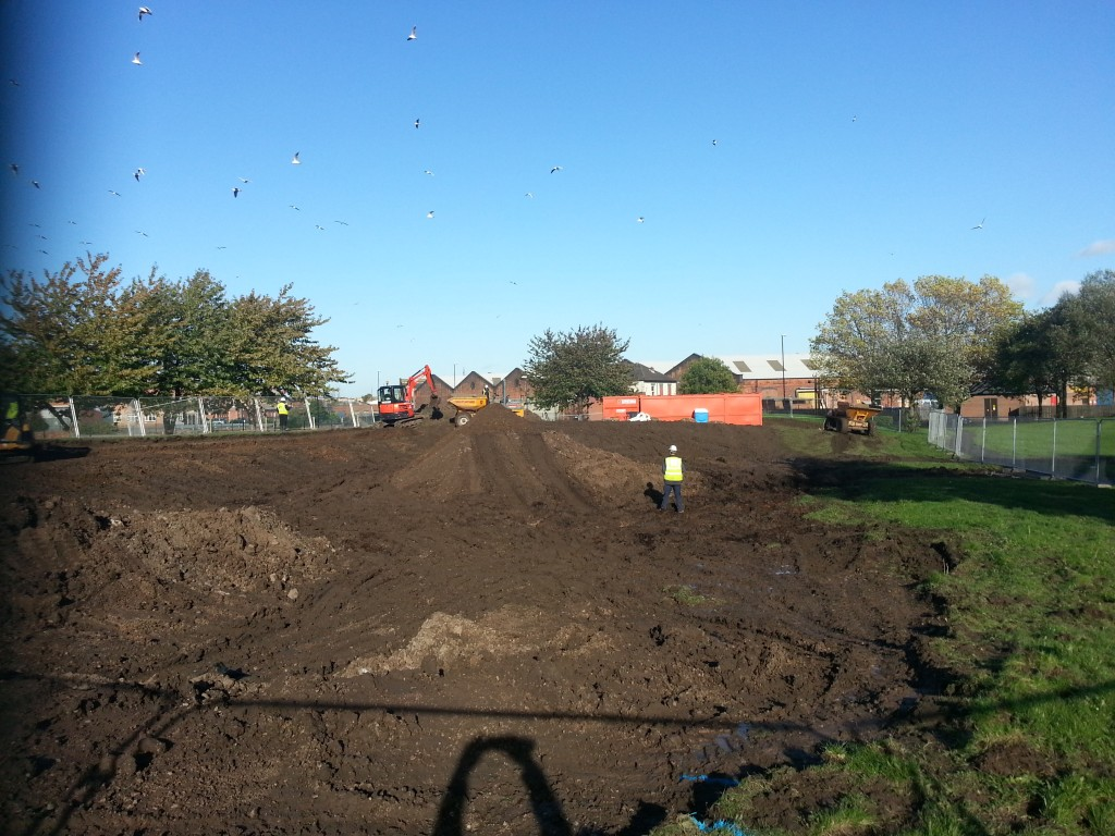 BMX Track in Progress